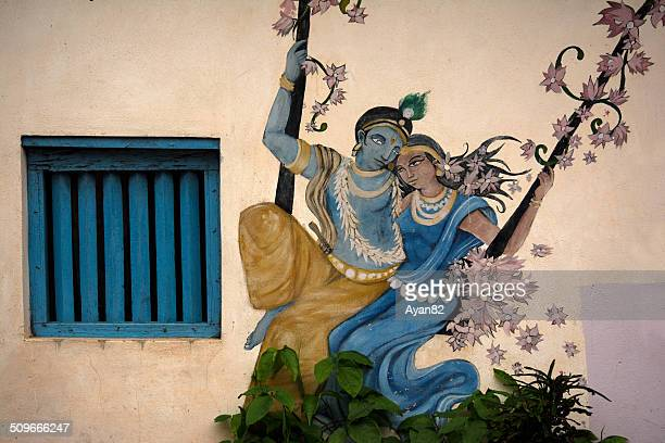 radha and krishna - lord krishna stock photos and pictures