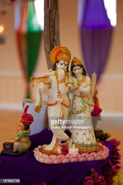 radha krishna - lord krishna stock photos and pictures