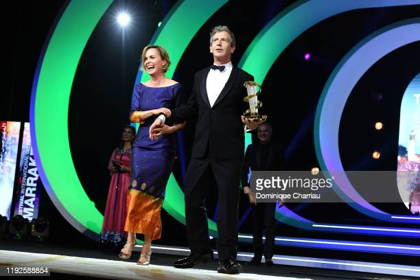 Radha Mitchell and Ben Mendelsohn attend the closing ceremony during the 18th Marrakech International Film Festival on December 07 2019 in Marrakech...