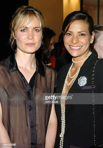 Radha Mitchell and Constance Marie during Chanel's Special Premiere Screening of No5 The Film at Chanel Boutique in Beverly Hills California United...