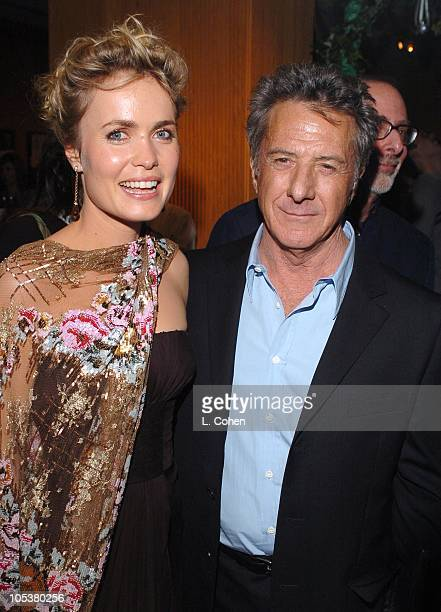 """Radha Mitchell and Dustin Hoffman during """"Finding Neverland"""" Los Angeles Premiere - After Party at Academy of Motion Picture Arts And Sciences in..."""