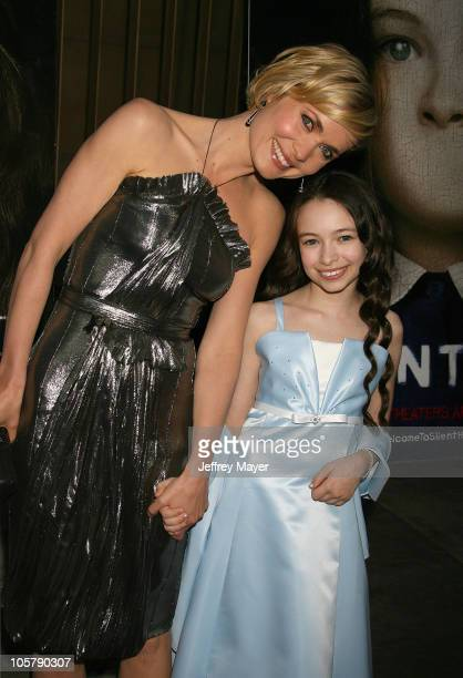 Radha Mitchell and Jodelle Ferland during 'Silent Hill' Los Angeles Premiere Arrivals at Egyptian Theatre in Hollywood California United States