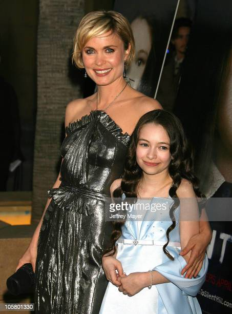 """Radha Mitchell and Jodelle Ferland during """"Silent Hill"""" Los Angeles Premiere - Arrivals at Egyptian Theatre in Hollywood, California, United States."""