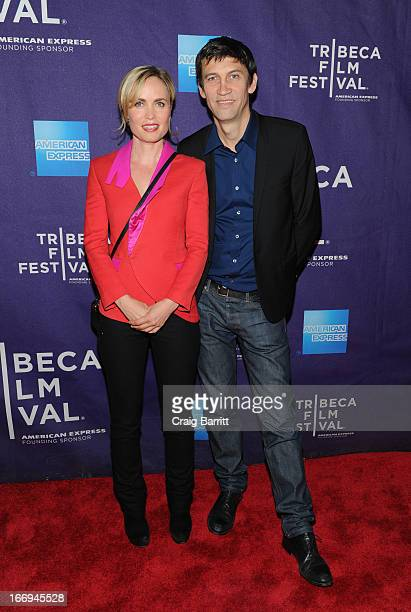 Radha Mitchell and Nicholas Wrathall attend the Gore Vidal The United States Of Amnesia world premiere during the 2013 Tribeca Film Festival on April...