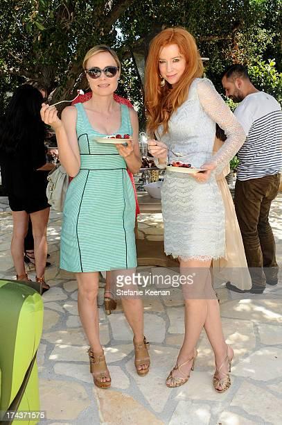 Radha Mitchell and Odessa Rae attend Lorena Sarbu Resort 2014 Luncheon at on July 24 2013 in Beverly Hills California