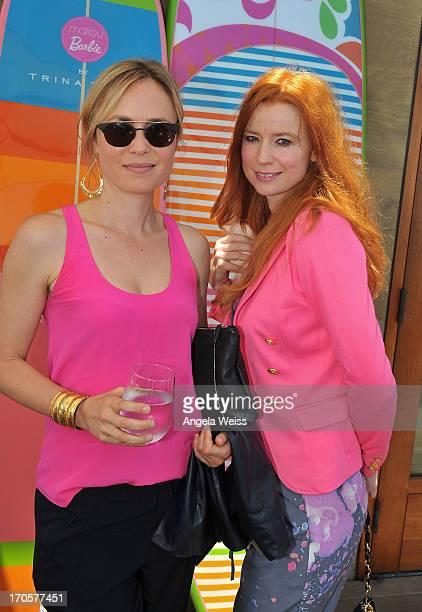 Radha Mitchell and Odessa Rae attend the HauteLook luncheon celebrating Malibu Barbie By Trina Turk at Nobu Malibu on June 14 2013 in Malibu...