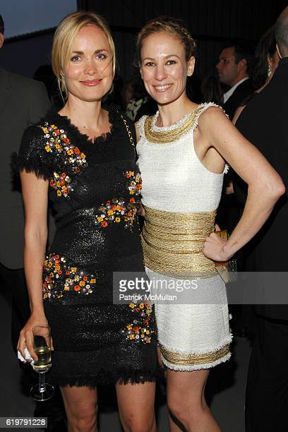 Radha Mitchell and Rebekah McCabe attend CHANEL Cruise Show LA Arrivals at Santa Monica Airport on May 18 2007 in Santa Monica CA