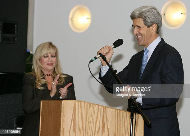 """Radha Mitchell and Senator John Kerry during """"Children Uniting Nations Second Annual National Conference"""" at Woodrow Wilson International Center for..."""