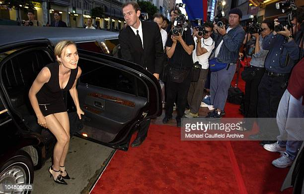 Radha Mitchell arrives during Outfest 2002 The Gay Lesbian Film Festival at The Orpheum Theatre in Los Angeles California United States
