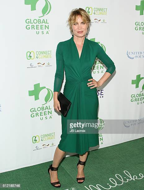 Radha Mitchell attends Global Green USA's 13th annual preOscar party at Mr C Beverly Hills on February 24 2016 in Los Angeles California