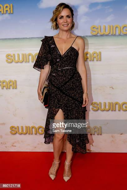 Radha Mitchell attends the Melbourne premiere of Swinging Safari on December 14 2017 in Melbourne Australia