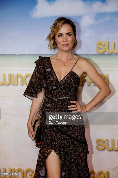 Radha Mitchell attends the Melbourne premiere of Swinging Safari on December 14 2017 in Melbourne Australia