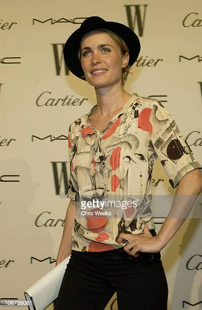 Radha Mitchell during W Magazine Celebrates Their Hollywood AList Issue With Their First Golden Globes Event Presented With Cartier And MAC Cosmetics...