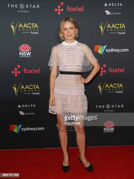 Radha Mitchell poses during the 7th AACTA Awards at The Star on December 6 2017 in Sydney Australia