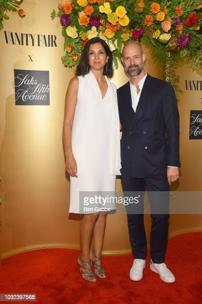 Radhika Jones and Chris Mitchell attend as Vanity Fair and Saks Fifth Avenue celebrate Vanity Fair's BestDressed 2018 at Manhatta on September 12...