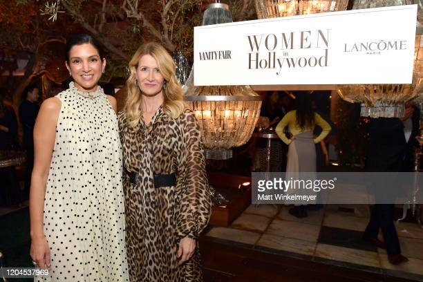 Radhika Jones and Laura Dern attend Vanity Fair and Lancôme Toast Women in Hollywood on February 06 2020 in Los Angeles California