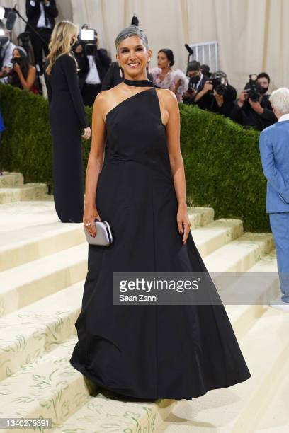 Radhika Jones attends 2021 Costume Institute Benefit - In America: A Lexicon of Fashion at the Metropolitan Museum of Art on September 13, 2021 in...