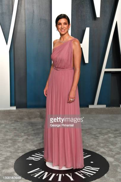 Radhika Jones attends the 2020 Vanity Fair Oscar party hosted by Radhika Jones at Wallis Annenberg Center for the Performing Arts on February 09,...