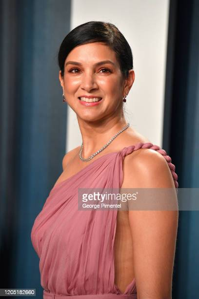 Radhika Jones attends the 2020 Vanity Fair Oscar party hosted by Radhika Jones at Wallis Annenberg Center for the Performing Arts on February 09 2020...
