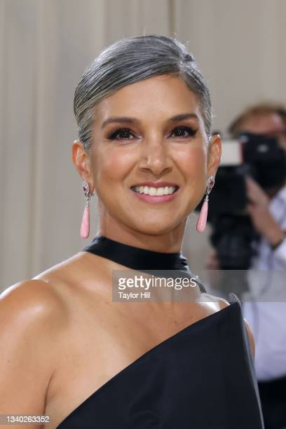"""Radhika Jones attends the 2021 Met Gala benefit """"In America: A Lexicon of Fashion"""" at Metropolitan Museum of Art on September 13, 2021 in New York..."""