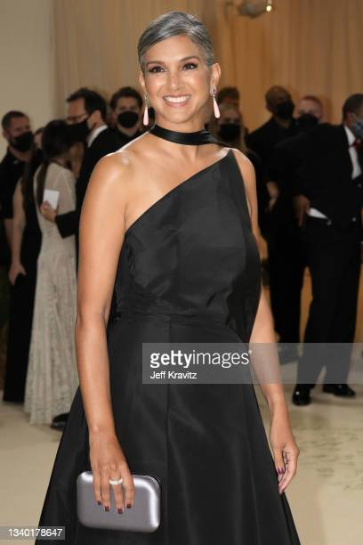 Radhika Jones attends The 2021 Met Gala Celebrating In America: A Lexicon Of Fashion at Metropolitan Museum of Art on September 13, 2021 in New York...