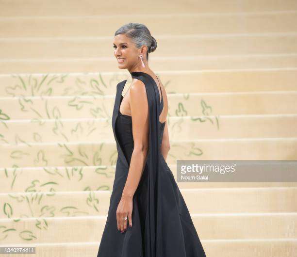 Radhika Jones attends the 2021 Met Gala celebrating 'In America: A Lexicon of Fashion' at The Metropolitan Museum of Art on September 13, 2021 in New...
