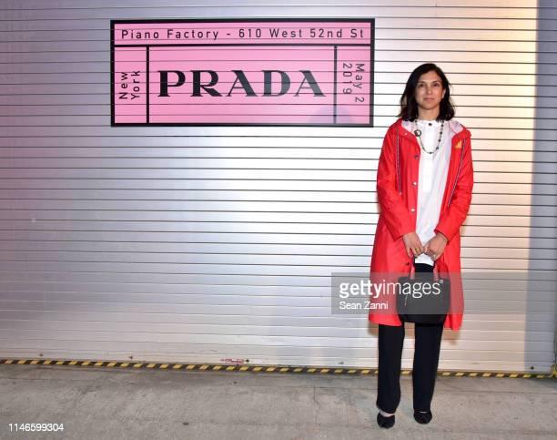 Radhika Jones attends the Prada Resort 2020 fashion show at Prada Headquarters on May 02 2019 in New York City