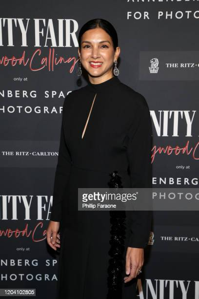 Radhika Jones attends the Vanity Fair and Annenberg Space for Photography's Celebration of The Opening of Vanity Fair Hollywood Calling sponsored by...