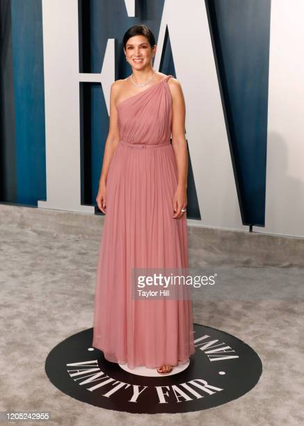 Radhika Jones attends the Vanity Fair Oscar Party at Wallis Annenberg Center for the Performing Arts on February 09, 2020 in Beverly Hills,...