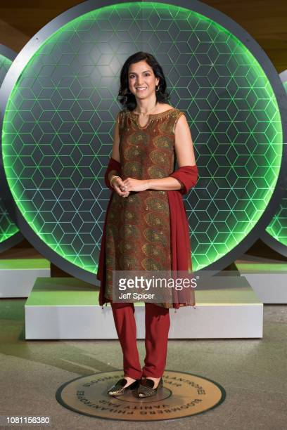 Radhika Jones attends the Vanity Fair x Bloomberg climate change gala dinner at Bloomberg London on December 11 2018 in London England