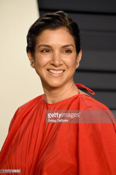 Radhika Jones editor of Vanity Fair attends the 2019 Vanity Fair Oscar Party hosted by Radhika Jones at Wallis Annenberg Center for the Performing...