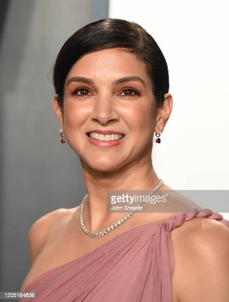 Radhika Jones, Editor-in-Chief of Vanity Fair, attends the 2020 Vanity Fair Oscar Party hosted by Radhika Jones at Wallis Annenberg Center for the...