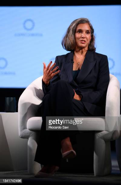 Radhika Jones, Editor-in-Chief, Vanity Fair, speaks onstage during the 2021 Concordia Annual Summit - Day 2 at Sheraton New York on September 21,...