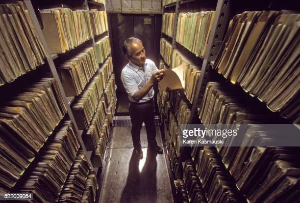 radiation research files in hiroshima japan - geneticist stock pictures, royalty-free photos & images