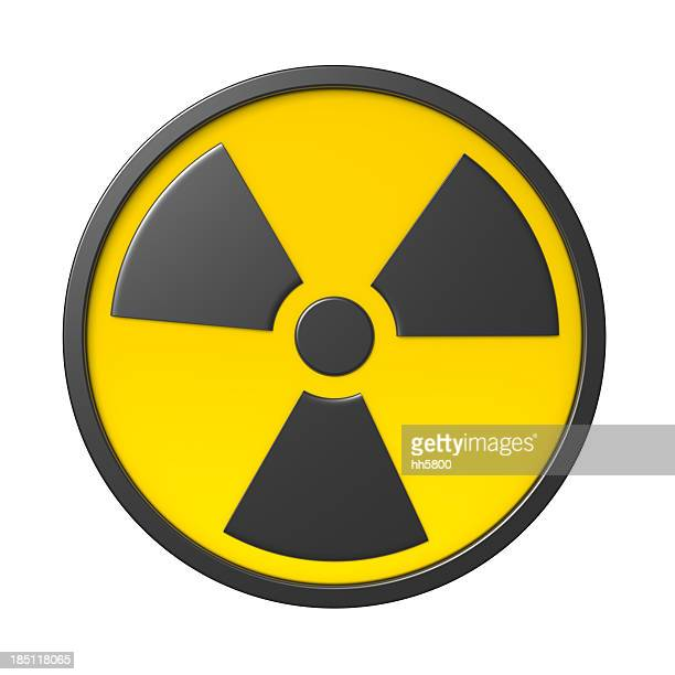 3d radiation sign - symbol stock pictures, royalty-free photos & images