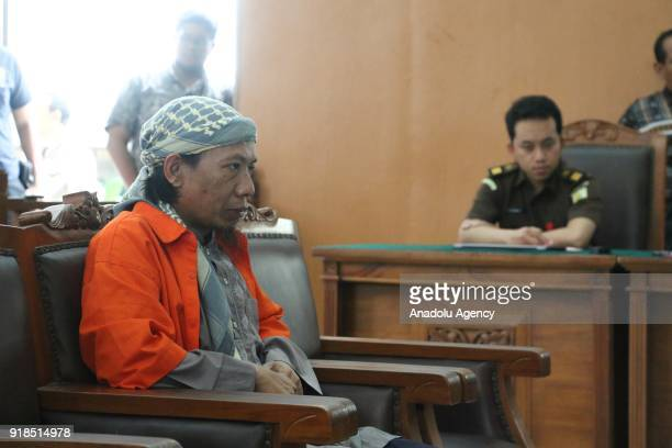 Radical Indonesian Cleric Oman Rochman popularly known as Aman Abdurrahman is seen as the South Jakarta Court indicted him over allegations that he...