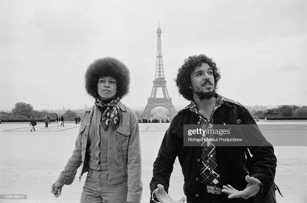 Angela Davis in Paris : Photo d'actualité