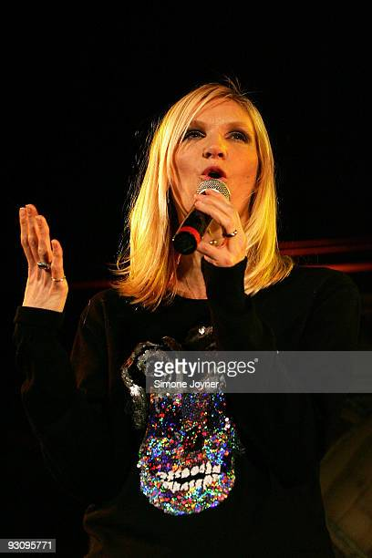 Radio 1 DJ and curator for the evening Jo Whiley speaks during the first night of 'Mencap's Little Noise Sessions' at Union Chapel on November 16...