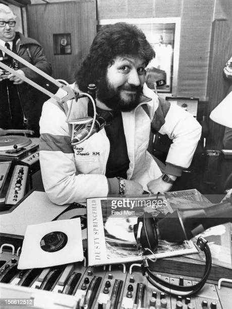 BBC Radio 1 presenter Dave Lee Travis in his studio at Broadcasting House London 20th February 1978