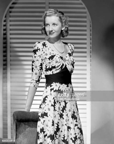 Radio actress Alice Frost models an evening dress She won the Fashion Academys award for the 1941 'BestDressed Woman in Radio' She portrays heroine...