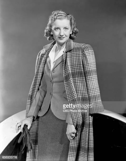 Radio actress Alice Frost wears a suit for a fashion shoot She won the Fashion Academys award for the 1941 'BestDressed Woman in Radio' She portrays...