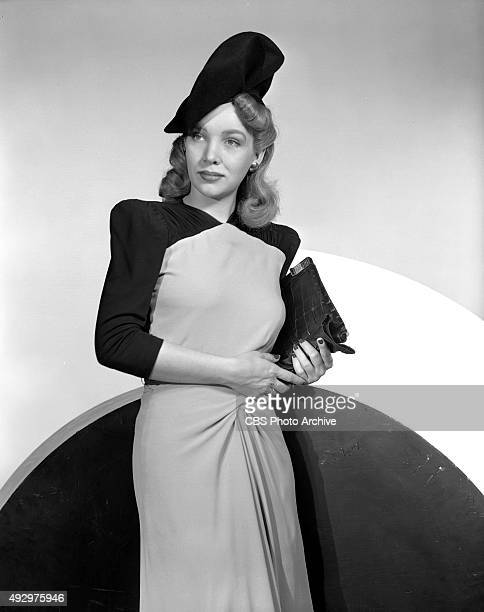 Radio actress Ann Eden shows off dress and evening fashions She is later known as Ann Eden Woodward Image dated October 1 1940 New York NY