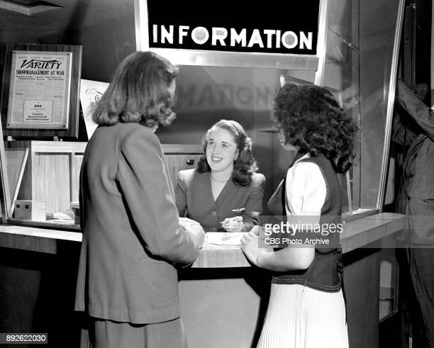 Radio actress Gloria Holliday at CBS Information Desk July 31 1944 Hollywood CA