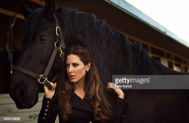 Radio and television host Kerri Kasem is photographed at the Los Angeles Equestrian Center on January 20 in Los Angeles, California.