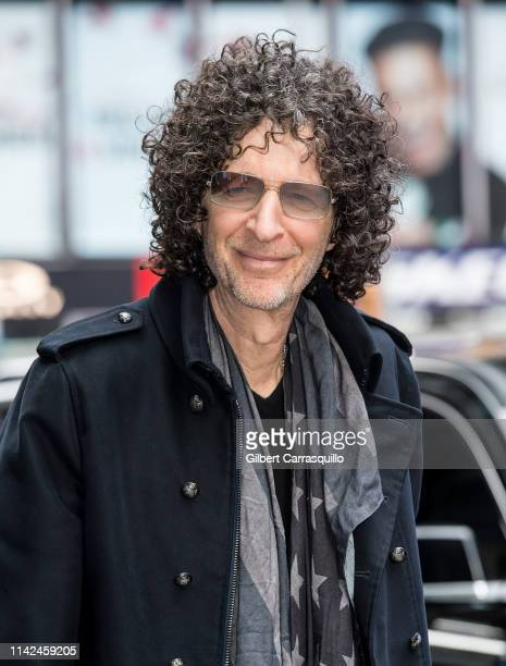 Radio and television personality Howard Stern is seen arriving to the ABC studio for GMA on May 09 2019 in New York City