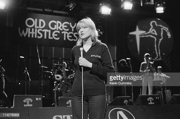 Radio and television presenter Annie Nightingale on the BBC TV music programme 'The Old Grey Whistle Test' 5th February 1980