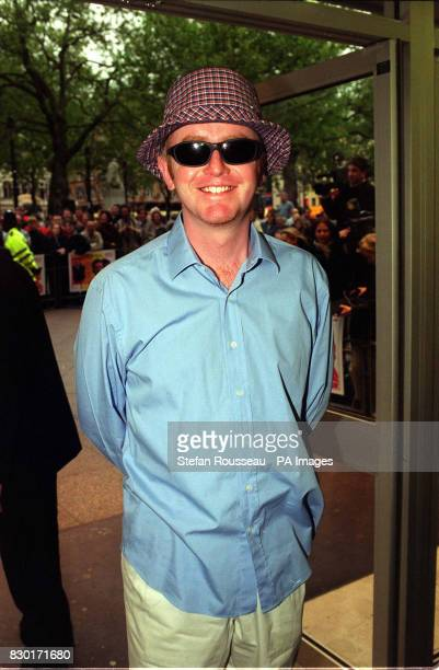 Radio and television presenter Chris Evans arrives at the Odeon Leicester Square in London for the premiere of the film 'Swing' which stars Lisa...