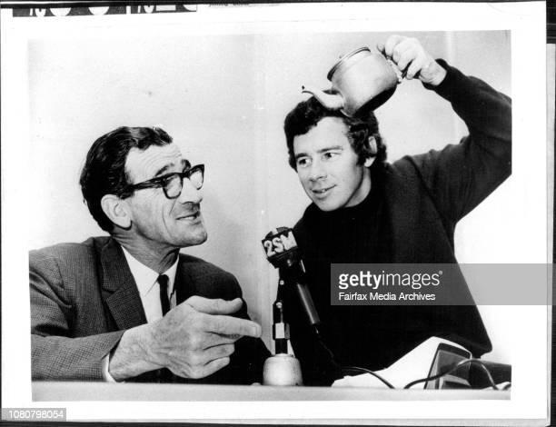 Radio Announcer Ian MacRae with Frank Hyde August 18 1978