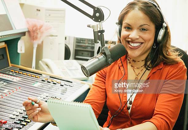 Radio Broadcaster in Studio