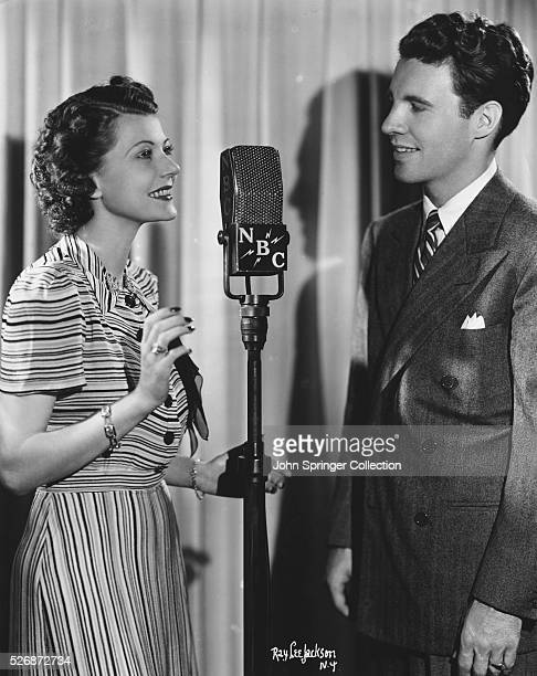 Radio Broadcasters Ozzie Nelson and Harriet Hilliard